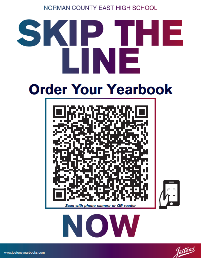Order your yearbook by scanning the image.
