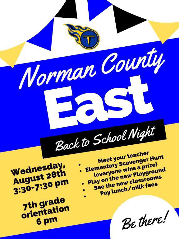 Join us for Back to School Night on Wednesday, August 28th!