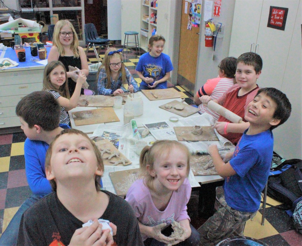 After-School Program: Having fun with clay