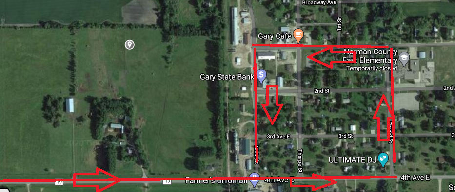 Gary staff parade route